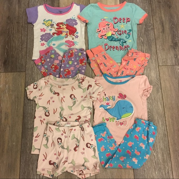 NWT  Girls Size 2T Mermaid Sea You In My Dreams Pajamas NEW